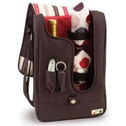 Insulated Wine Tote/Cooler with Service for Two