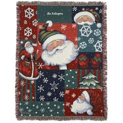Santa Snow Fun Throw