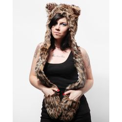 Leopard Animal Hat Full Hood