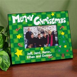 Merry Christmas Christmas Tree Printed Frame