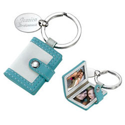 Personalized Pocketbook Photo Frame Key Chain