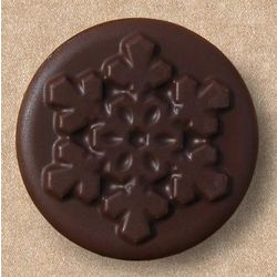6 Chocolate Covered Oreos with Snowflake Designs