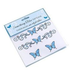 Something Blue Wedding Temporary Tattoos
