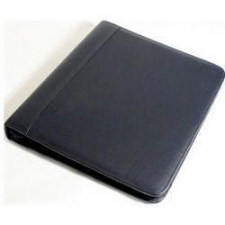 Zip-Around Three Ring Leather Binder