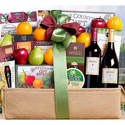 Houdini Vineyards Napa Valley Fruit Collection Gift Basket