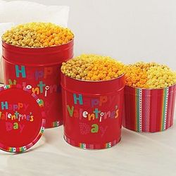 Happy Valentine's Day 3 Flavor Popcorn Tin