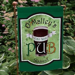 Personalized Old Irish Pub Garden Flag