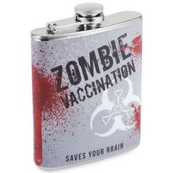 Zombie Attack Vaccine Hip Flask