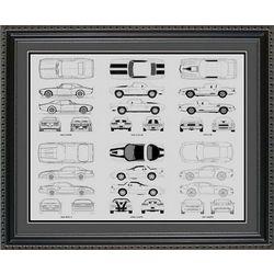 Chevrolet Camaro Blueprint Collection Art Print
