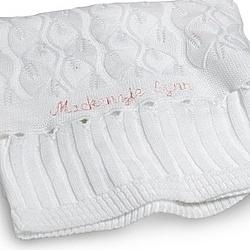 White Baby Shawl Blanket