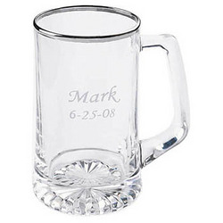 Personalized Silver Rimmed Sports Mug