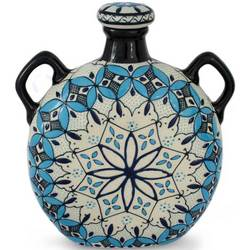 'Blue Lotus' Ceramic Decanter