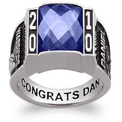 Men's Celebrium Traditional Deco Birthstone Class Ring