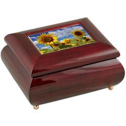 Sunflowers Small Musical Jewelry Box