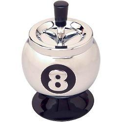 8 Ball Spinning Ashtray