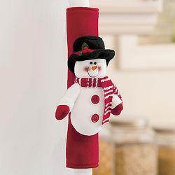 Snowman and Santa Holiday Handle Covers