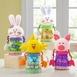 Personalized Plush Easter Treat Jar
