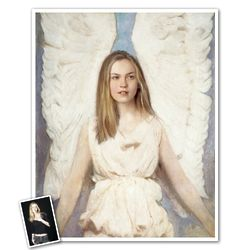 Personalized Angel Girl Print from Photo