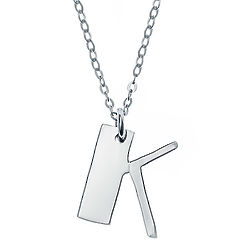Personalized Sterling Silver Initial Charm Pendant
