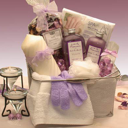 Bath & Body Spa Caddy Gift Basket for Her