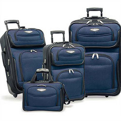 Amsterdam 4 Piece Two Tone Travel Set in Navy