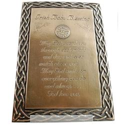 Irish Baby Blessing Plaque