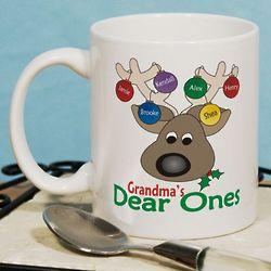 Dear Ones Personalized Christmas Coffee Mug