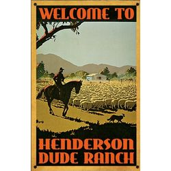 Personalized Vintage Ranch Sign