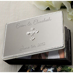 Personalized Silver Wedding Photo Album