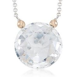 Two Tone 20 Carat Rock Crystal Necklace