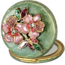 Kathleen Swarovski Crystal Floral Compact