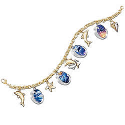 Ocean's Jeweled Splendor Charm Bracelet