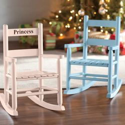 Child's Personalized Oak Ladderback Rocker