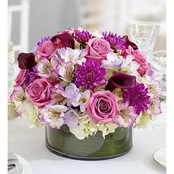 Purple Elegance Floral Centerpiece