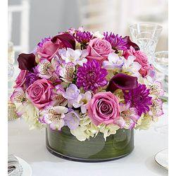 Purple Elegance Floral Centerpiece
