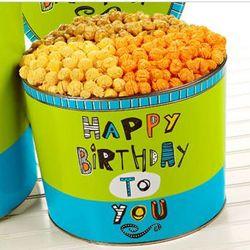 Two Gallon Great Big Happy Birthday Popcorn Tin