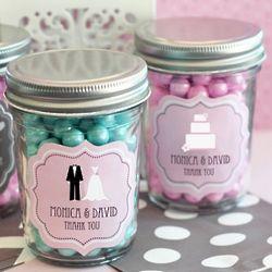 Personalized Bridal Mini Mason Jar Favors