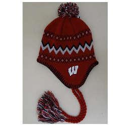 Wisconsin Badgers Boy's Tassel Knit Hat