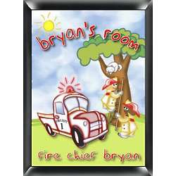 Fire Chief Personalized Children's Room Sign
