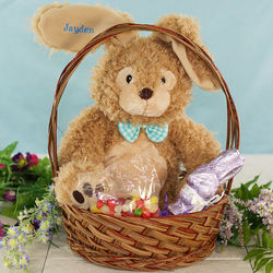 Embroidered Dimples Bunny Easter Gift Basket