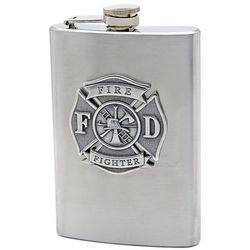 Firefighter's Stainless Steel Hip Flask