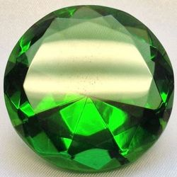 Emerald Green Multi-Faceted Solitaire Crystal