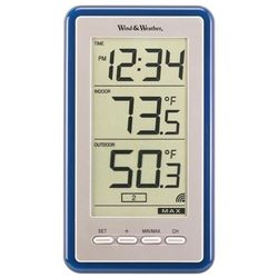 Large Digit Indoor Outdoor Color Spot Thermometer and Clock