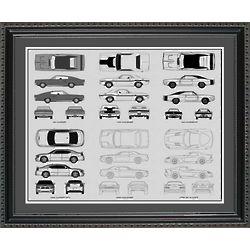 Dodge Automobile Blueprint Collection 20x24 Framed Print