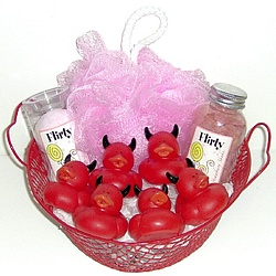 Little Devil Rubber Duck Bath Basket