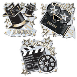 Hollywood Icons Hanging Wall Cutout Set