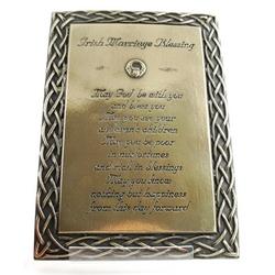 Irish Marriage Blessing Plaque