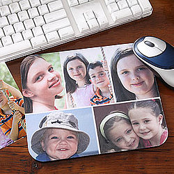 Personalized Photo Collage Horizontal Mouse Pad