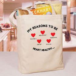 Heart Awareness Tote Bag