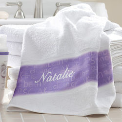 Lavender Spa Personalized Bath Towel